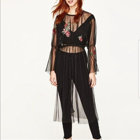 Zara Dresses & Skirts - Zara mesh dress